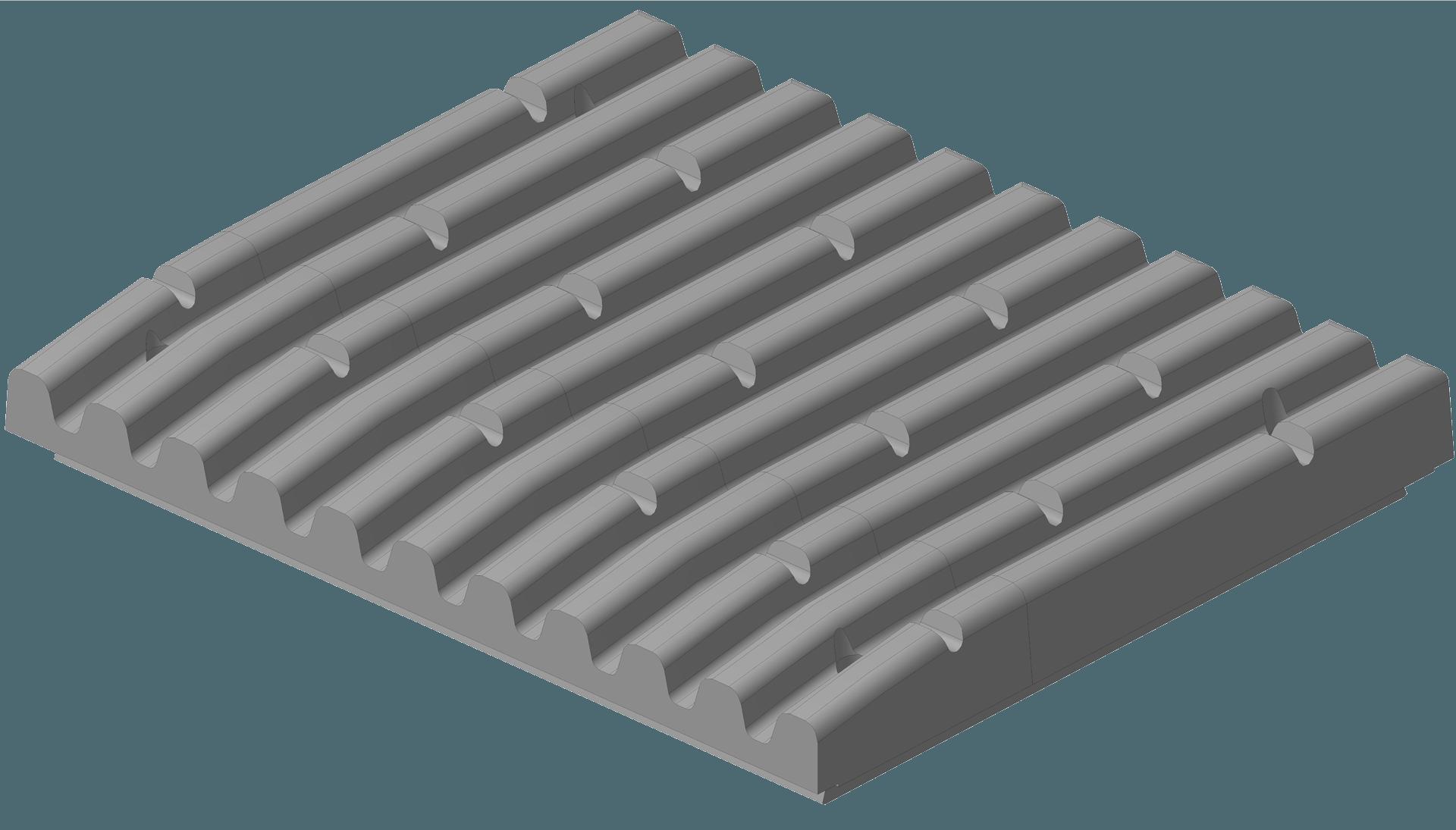 3D модель плиты щековой дробилки