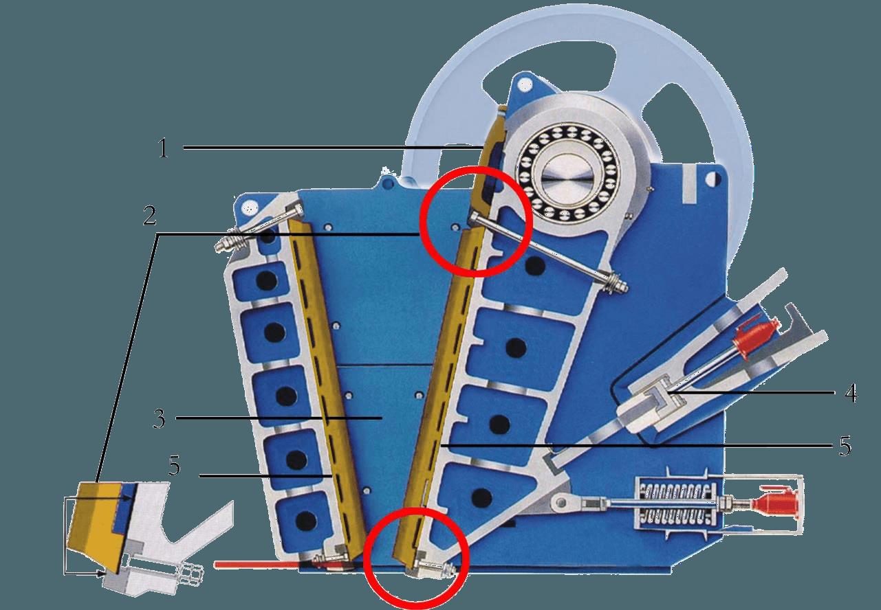 Схема щековой дробилки Allis Saga